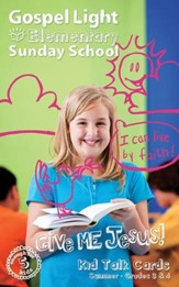 Gospel Light: Elementary Kid Talk Cards Grades 3 & 4 Summer 2016 Year A - Slightly Imperfect