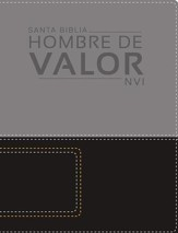 Santa Biblia NVI Hombre de Valor, Piel Italiana a Dos Tonos  (NVI Man of Valor Bible, Italian Duo-Tone) - Slightly Imperfect