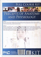 The Precepts of Anatomy and Physiology--Full Course   Kit