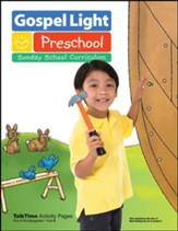Gospel Light: Pre-K/Kindergarten Ages 4 & 5 TalkTime Activity Pages, Fall 2020 Year B