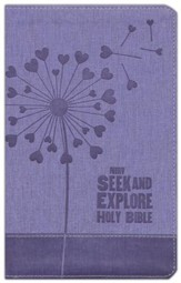 NIrV Seek and Explore Holy Bible--soft leather-look, periwinkle