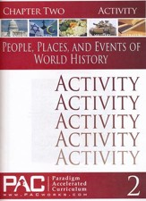 People, Places & Events of World History Chapter 2 Activities