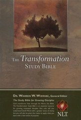 NLT Transformation Study Bible, Hardcover