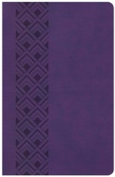 KJV Ultrathin Reference Bible, Purple LeatherTouch Value Edition