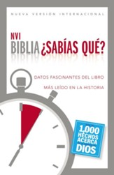 Biblia NVI ¿Sabías Qué? Enc. Dura  (NVI Fast Facts Bible, Hardcover) - Slightly Imperfect