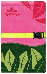 Biblia Aventura NVI, Piel Simil, Rosado/Verde  (NVI Adventure Bible, Imitation Leather Pink/Green)