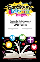 VBS 2015 SonSpark Labs - Volunteer Certificate, Pack of 10