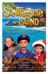 VBS 2014 SonTreasure Island- Bulletin Insert: 100 Pack - Slightly Imperfect