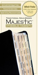 Majestic Traditional Gold Bible Tabs - Mini