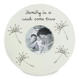 Family is a Wish Come True Round Photo Frame