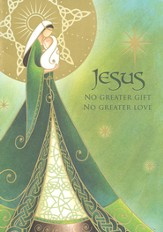 Jesus No Greater Gift Irish Christmas Cards, Pack of 20