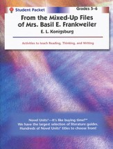 From the Mixed-Up Files of Mrs. Basil E. Frankweiller Novel Units -Student Pack 5-6
