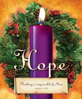 Advent Sunday 1 Purple Bulletins, Large Size (Package of 50)