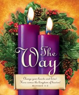 Advent Sunday 2 Purple Bulletins, Large Size (Package of 50)