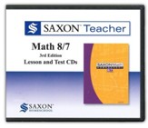 Saxon Teacher for Math 8/7, 3rd Edition on CD-ROM