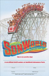 SonWorld Adventure Certificates, package of 50