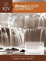 KJV Bible Teacher Large Print, Fall 2017