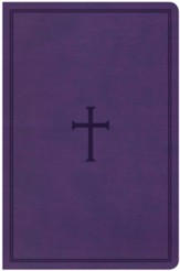 KJV Large Print Personal Size Reference Bible, Purple Leathertouch with Cross