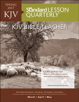 KJV Adult Bible Teacher Guide Large Print, Spring 2017