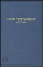 CSB Pocket New Testament with Psalms, Navy, Case of 24