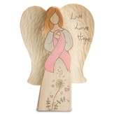 Live, Love, Hope, Pink Ribbon, Angel Plaque