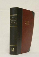 KJV Reformation Heritage Study Bible, Brown/Gray Imitation Leather - Slightly Imperfect