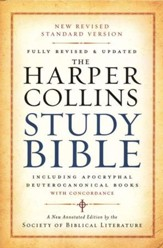 The NRSV HarperCollins Study Bible,  Revised and Updated Hardcover with Apocryphal and Deuterocanonical Books