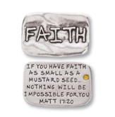 Scripture Pocket Reminder Token, Faith, Matthew 17:20