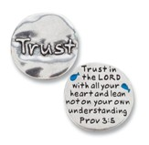 Scripture Pocket Reminder Token, Trust, Proverbs 3:5