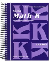 Saxon Math K, Home Study Teacher's  Edition