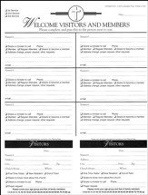Attendance Registration Pad - Large (Package of 6)