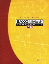 Saxon Math 7/6, 4th Edition, Solutions Manual