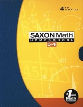 Saxon Math 5/4 HS Kit in a Retail Box (3rd Edition)