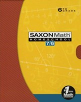 Saxon Math 7/6, Fourth Edition, Home School Kit in a Retail Box