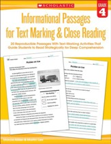 Informational Passages for Text Marking & Close Reading: Grade 4