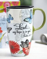 Butterfly Travel Mug, Psalm 39:7