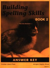 Building Spelling Skills Book 2 Answer Key, Grade 2