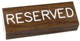 Reserved Pew Sign, Walnut