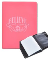 Believe, Pink Photo Wallet