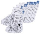 Color-Your-Own Canvas Nativity Christmas Stocking, Pk of 12