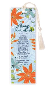 Always Think About What Is True Bookmark
