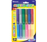 6 ml. Assorted Color Mini Glitter Glue Pack of 12