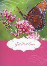 Butterflies and Birds Get Well Cards, Box of 12