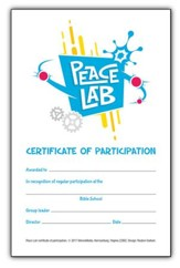 Peace Lab: Student Participation Certificates, pack of 20