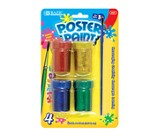 4 Color 18 ml. Glitter Poster Paint with Brush
