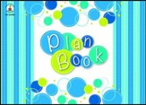 Bubbly Blues Plan Book