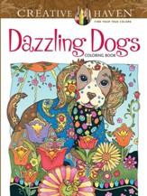 Dazzling Dogs Adult Coloring Book