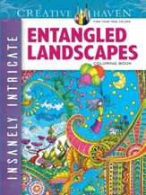 Insanely Intricate Entangled Landscapes Coloring Book