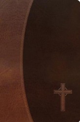 NKJV Gift Bible--soft leather-look, rich auburn