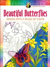 Beautiful Butterflies Adult Coloring Book